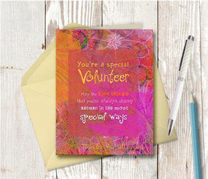 0173 Volunteer Note Card