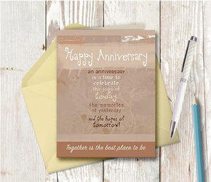0174 Anniversary Note Card