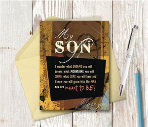 0179 Son Note Card