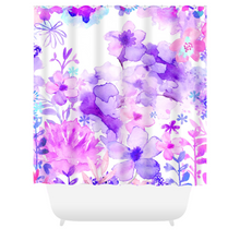 Harmonious Garden Purple Shower Curtains