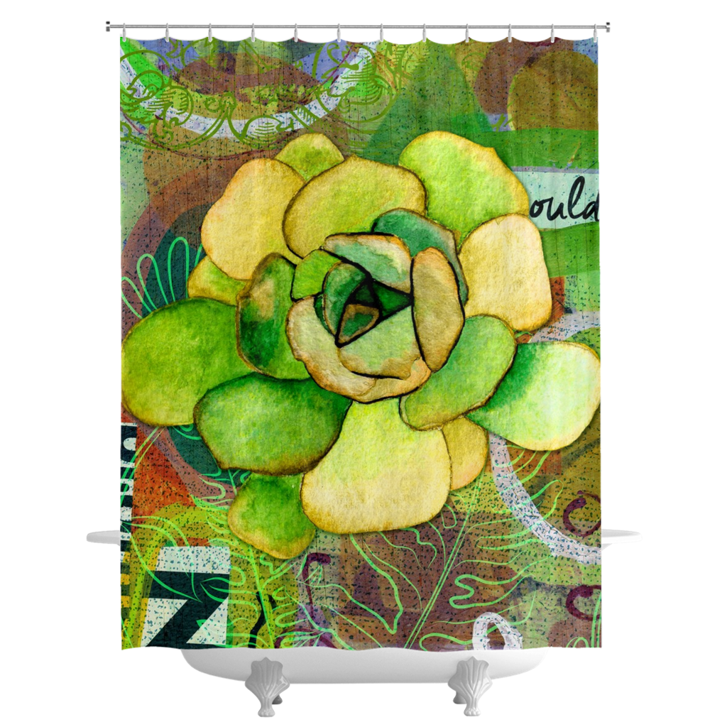 Pietra Rosetta Shower Curtains