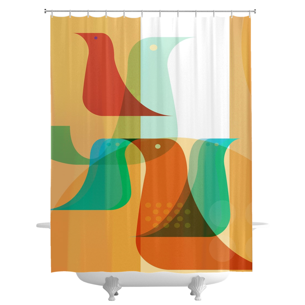 Birds of a Feather Shower Curtains