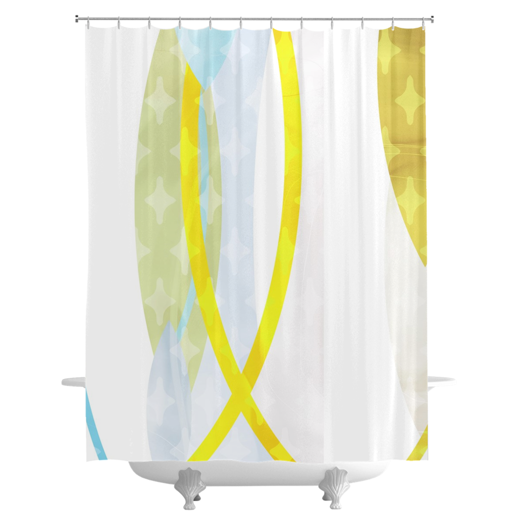 Side by Side Shower Curtains