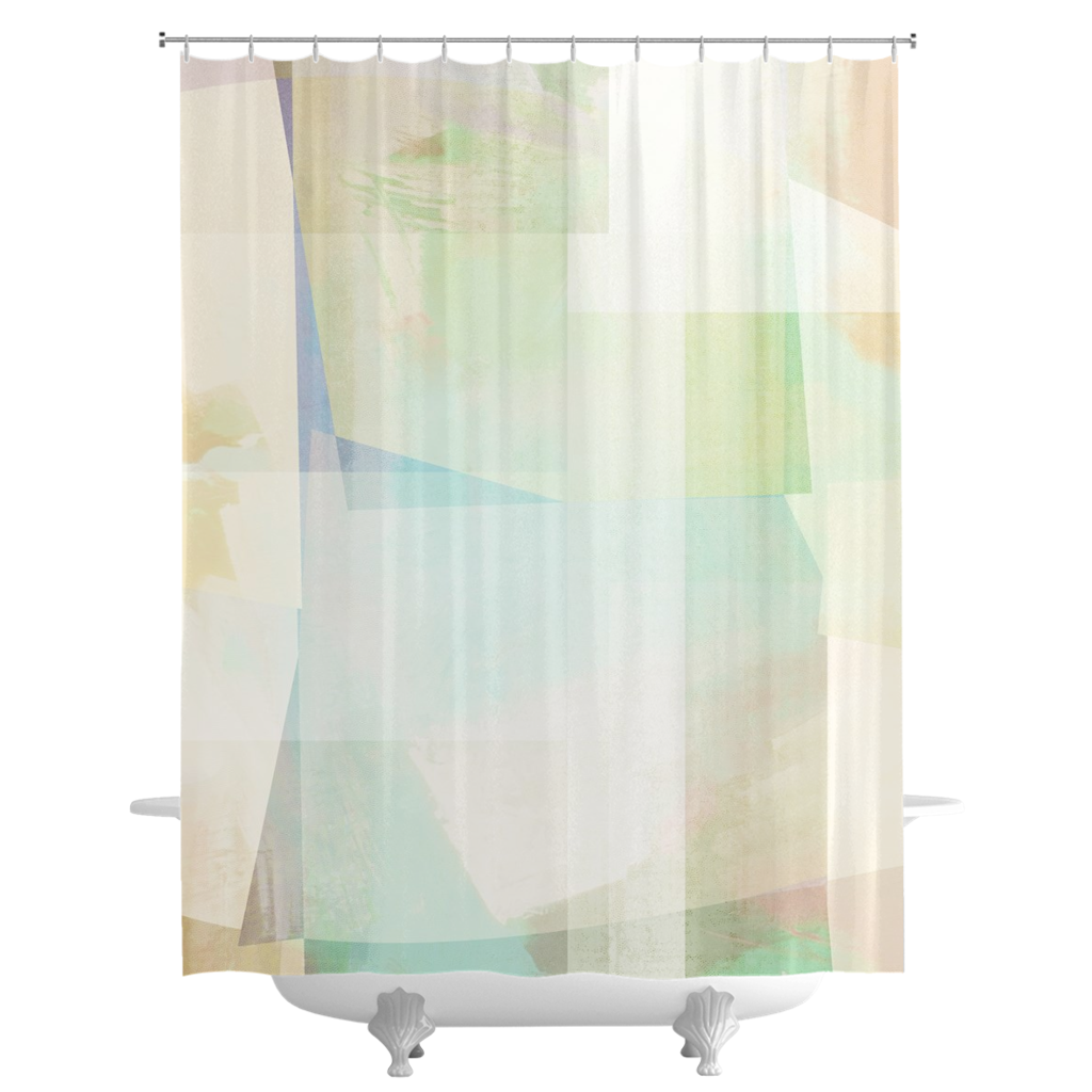 Squared Off Shower Curtains