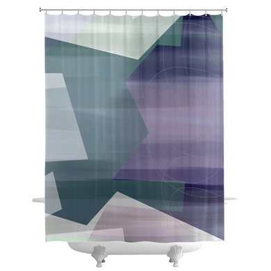 Satin Symmetry Shower Curtains