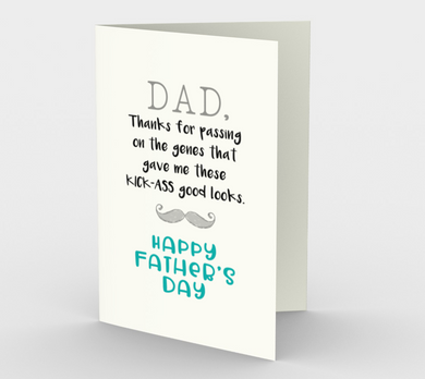 1074.Dad, Thanks for the Genes  Card by DeloresArt