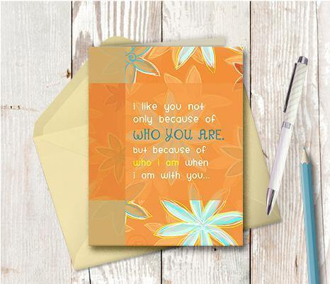 0193 Who I Am When With You Notecard