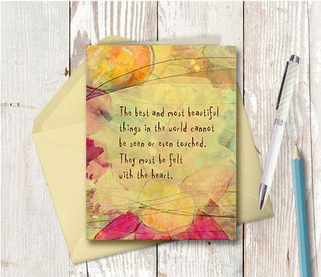 0194 Best And Most Beautiful Note Card