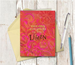 0198 Soul Speaks Note Card