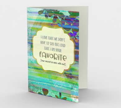 1219. I'm Your Favourite/Dad  Card by DeloresArt