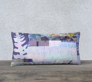 Trailing Petals Lumbar Pillows by Deloresart
