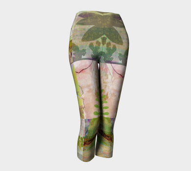 Sage Obscurity Collage Capris by Deloresart