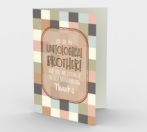 1278. Unbiological Brother  Card by DeloresArt