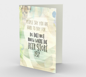 1265 Where to Buy Beer for Dad Card by Deloresart