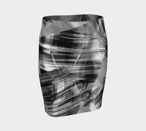 Tartan Cliffs Black Fitted Skirt by Deloresart