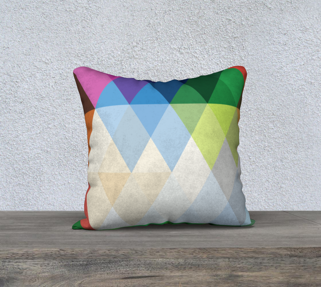 Support Beam Jewel Tones 1 Throw Pillow by Deloresart