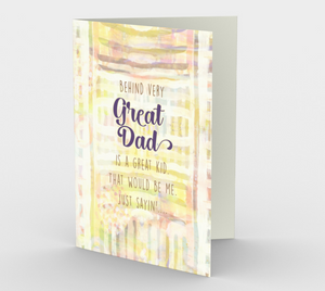 1243. Behind Every Great Dad  Card by DeloresArt