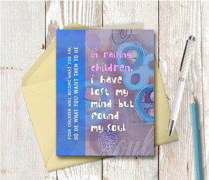 0201 Children Saved My Soul Note Card