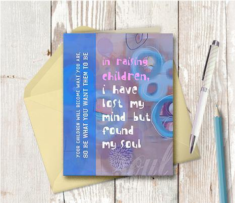 0201 Children Saved My Soul Note Card - deloresartcanada