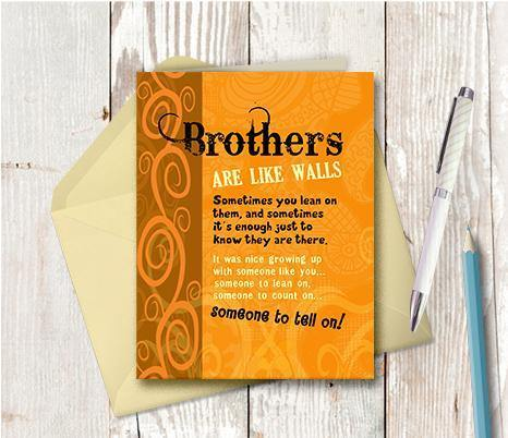 0203  Brother Note Card