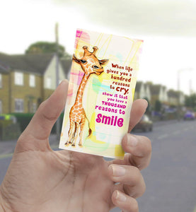 0204 Reasons To Smile Giraffe Art