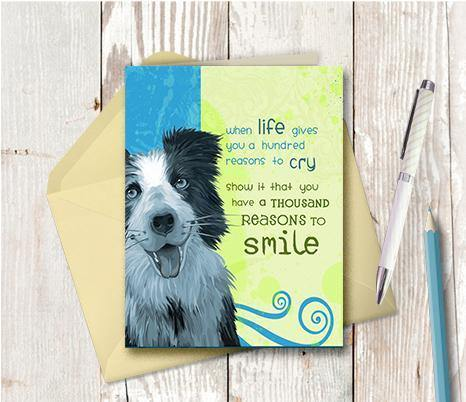 0204 Reasons to Smile Shaggy Dog Note Card