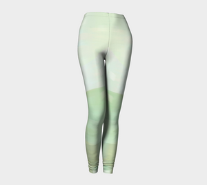 Angle Iron Greens Leggings by Deloresart