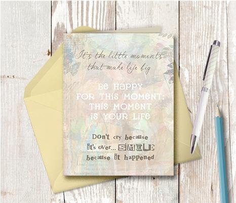 0212 This Moment Is Your Life Note Card - deloresartcanada