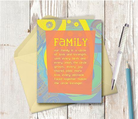 0217 Circle Family Note Card