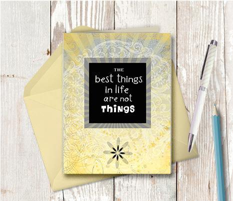 0219 Best Things Note Card - deloresartcanada