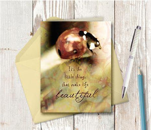 0224 Little Things Make Life Beautiful Note Card