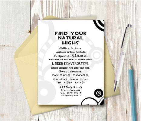 0228 Natural Highs Note Card