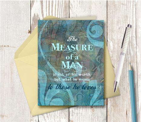 0231  Measure Of A Man Card Note Card