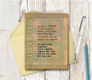 0234 Sister Note Card