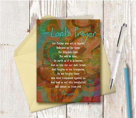 0239 Our Father Note Card - deloresartcanada