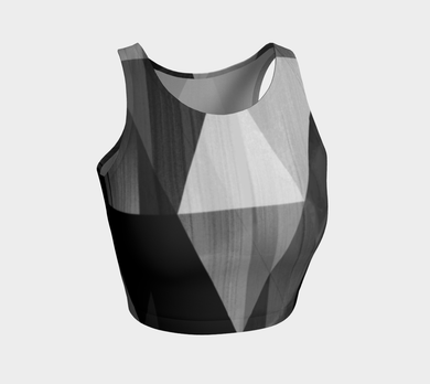 Unhinged Black Crop Top by Deloresart