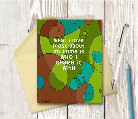 0241 Who I Share It With Note Card - deloresartcanada
