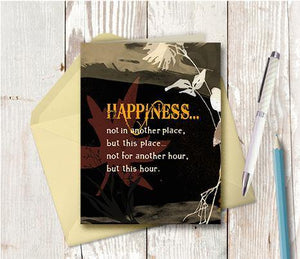 0245  Happiness This Hour Note Card