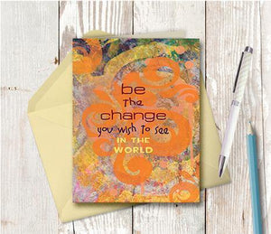 0251 Be The Change Note Card