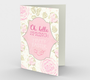 1173. Oh Hello Spring Happy Easter  Card by DeloresArt