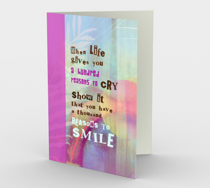 0050 A Thousand Reasons to Smile Stationery Card by Deloresart - deloresartcanada