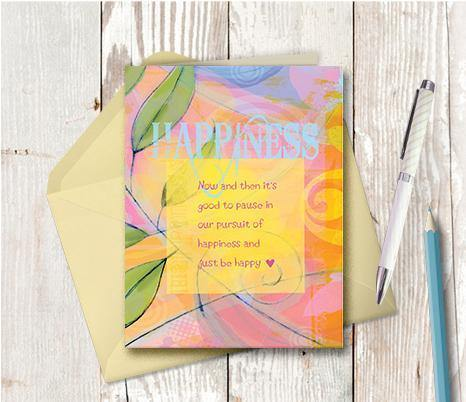 0263 Happiness Note Card