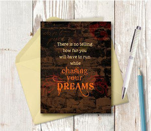 0265 Chasing Dreams Note Card