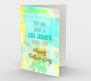 1228 Cool Grandpa Stationery Card by Deloresart