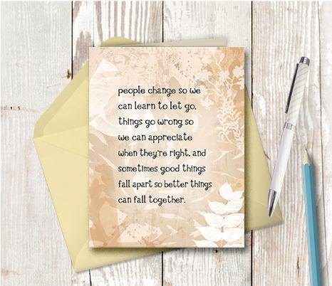 0268 Fall Together Neutral Note Card