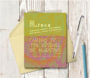 0271 Nurses Note Card - deloresartcanada