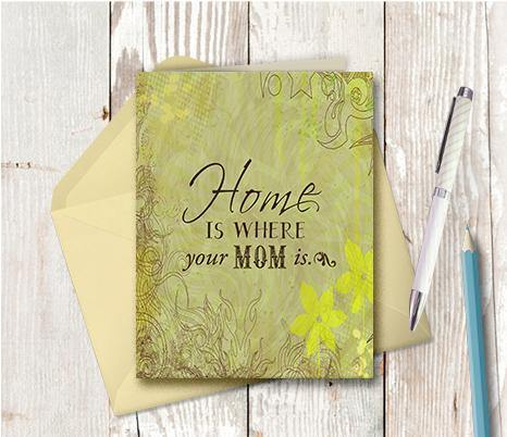 0277  Home Mom Note Card