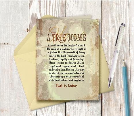 0278 True Home Note Card