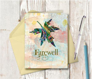 0282 Farewell Note Card - deloresartcanada