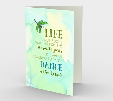 0142.Dance in the Rain  Card by DeloresArt